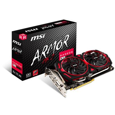 PLACA DE VIDEO PCI-E 8GB RX570 ARMOR MK2 8G OC MSI